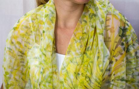 pañuelo seda pintada a mano valencia ensedarte