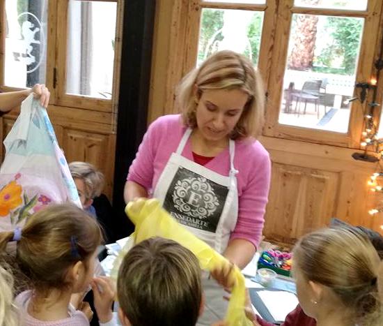 taller museo seda Ensedarte para niños