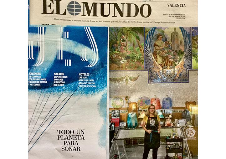 Ensedarte-Eva Escamilla en el periódico El Mundo